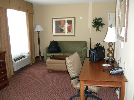 Homewood Suites Decatur-Forsyth: Living room