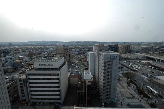 Toyama Excel Hotel Tokyu: view from a room on 14th floor