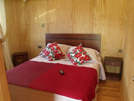 Cabanas Tokerau: Interior cabaña para 2 o 3 personas