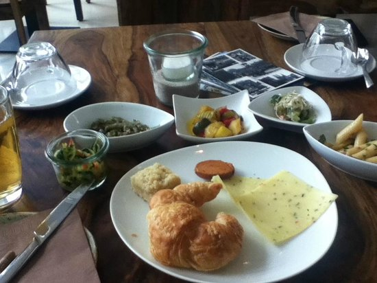 Almodovar Hotel: Sampling from the brunch buffet