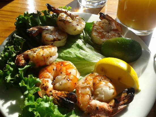 Big Sur River Inn Restaurant : Delicious prawn