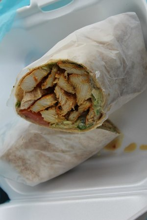 Sol Food: Funky Chicken wrap was just okay