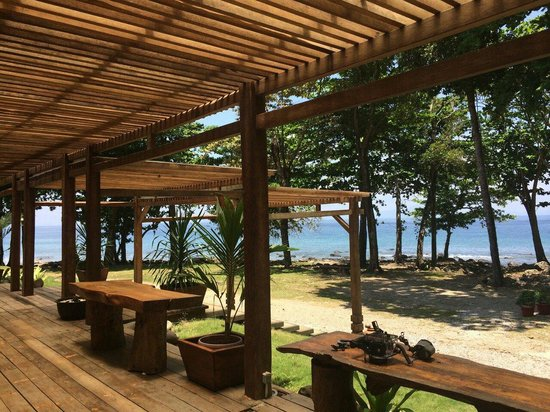 The Pade Resort: View from the dining room.