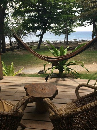 The Pade Resort: Hammock on our balcony