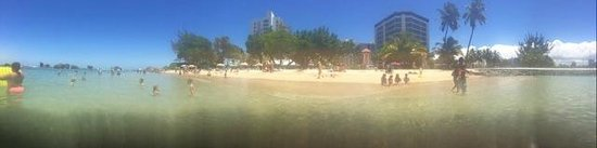 The Condado Plaza Hilton: Pic of beach from within the water