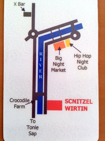 The Crocodile River Bistro : HERE'S A MAP! Handed out by restaurant in April 2014.