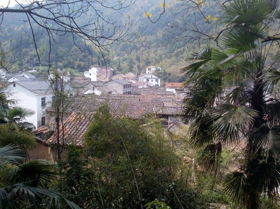 Guodong Village: The view of village from the up the hill