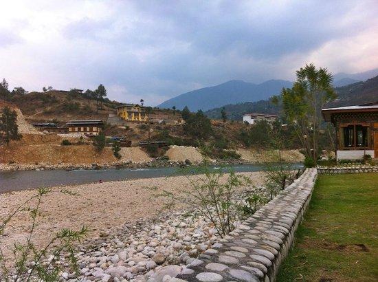 Damchen Resort: View from the hotel garden