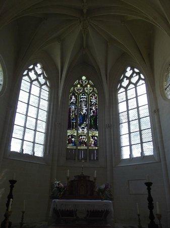 Château d'Ussé : Les vitraux de la chapelle