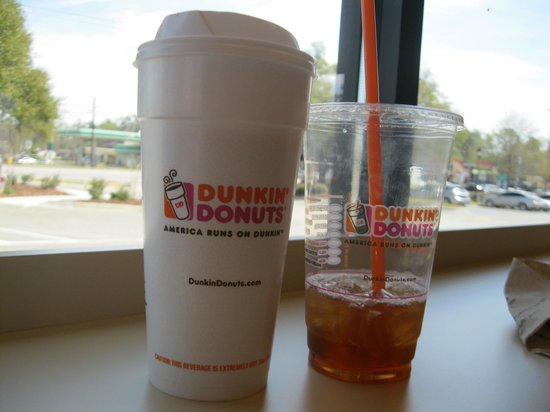 Dunkin' Donuts: hot and cold drinks