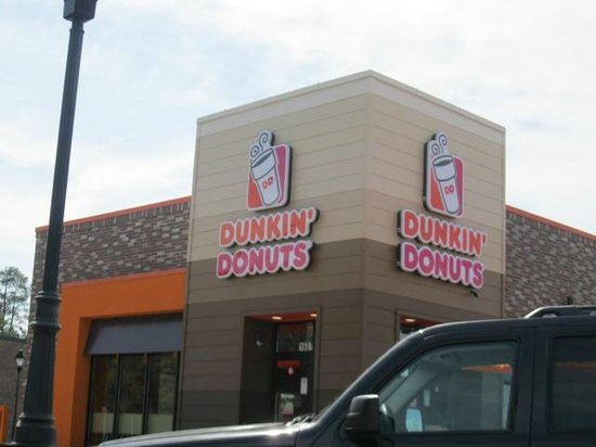 Dunkin' Donuts: outside of Dunkin Donuts