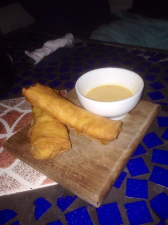 The Bocas Wine Bar: Chicken spring rolls
