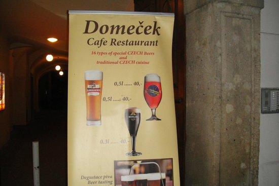 Domecek Cafe: Антураж