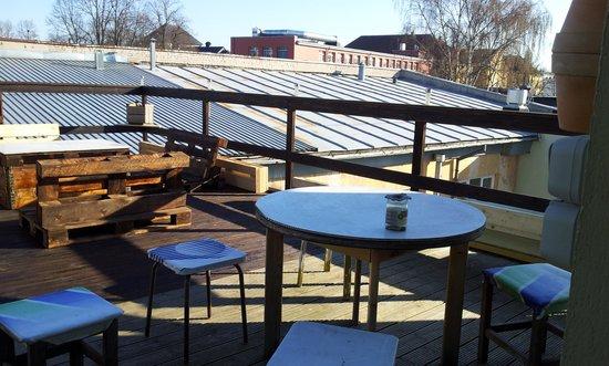 Looming Hostel: the terrace
