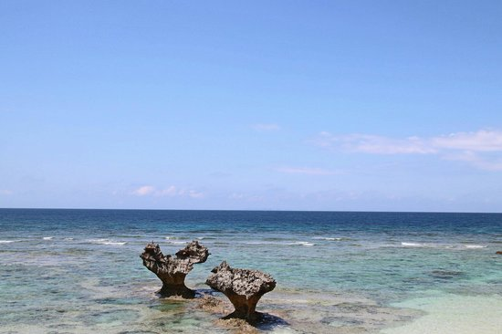 Kouri-jima Island: ハート岩