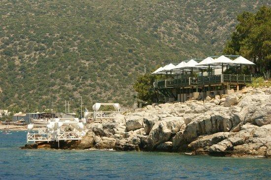 Club Med Bodrum Palmiye : Restaurant de la mer