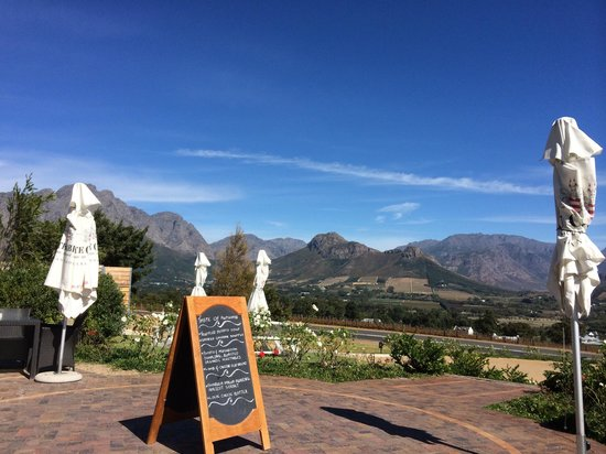 Haute Cabriere Restaurant : Lunch with a view