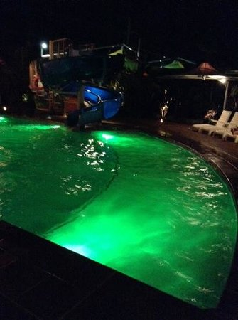 Gold Coast Holiday Park & Motel: pool at night