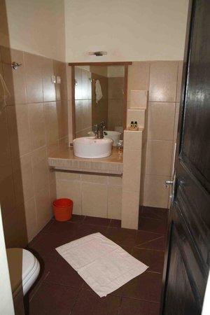 Hotel Gerard et Francine: Coin douche/lavabo