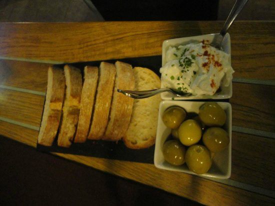 Centric: bread and olives