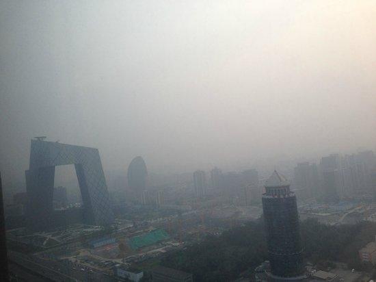 Park Hyatt Beijing: View from my room (pollution not fog)