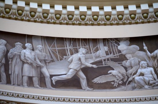 U.S. Capitol: freize along edge of interior rotunda ceiling