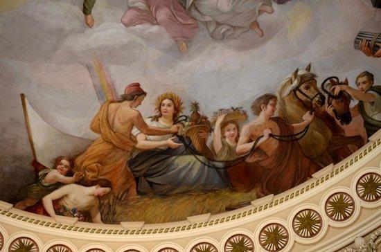 U.S. Capitol: Close up of rotunda ceiling painting