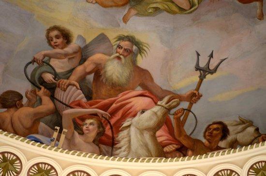 U.S. Capitol: Closeup of ceiling painting