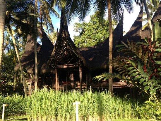 Bambu Indah: Main building (Restaurant/yoga room)