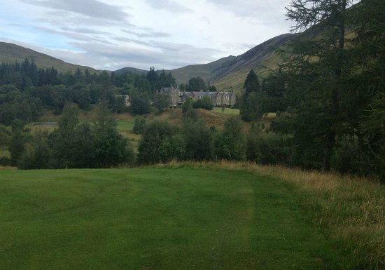 Dalmunzie Castle: Dalmunzie House from the gold course