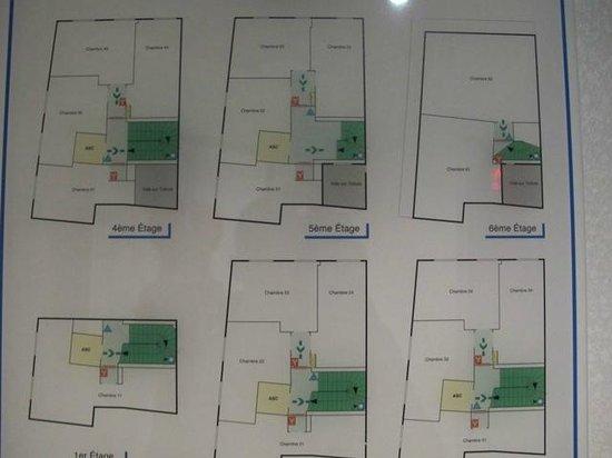 Hotel Georgette : Floor plans