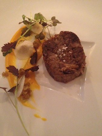 Whites Restaurant and Patisserie: Stunning Duck with sweet potato and nut granola