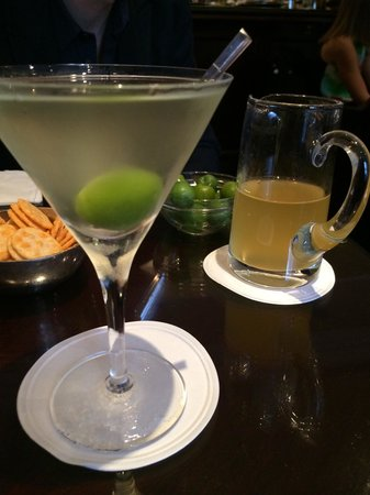 Dukes Bar: Perfect Dirty Martini with extra Olive juice if needed