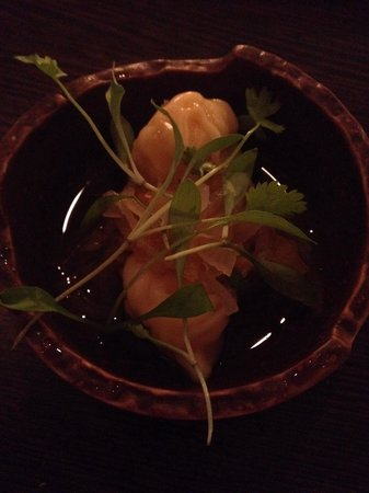 Whites Restaurant and Patisserie: Lobster dumplings with marigold