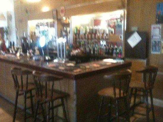 The bar at the Crown Inn