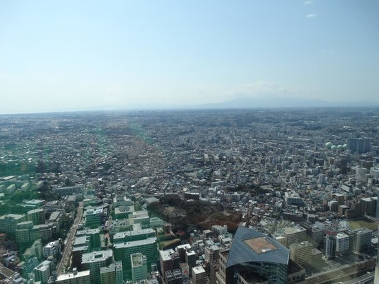 Yokohama Royal Park Hotel : City/Mountain view from the room