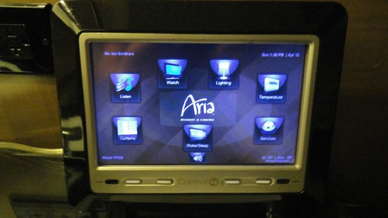 ARIA Resort & Casino: Bedroom - Room Controls