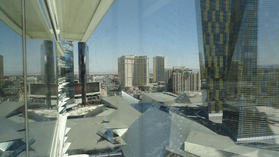 ARIA Resort & Casino: Bedroom - View from 17th Floor