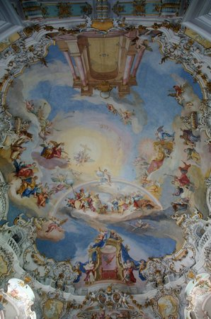 Wieskirche: ビース教会の天井画
