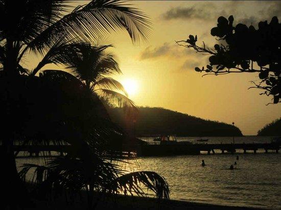 Hotel Le Panoramic: Vue de la plage de l'Anse à l'Ane