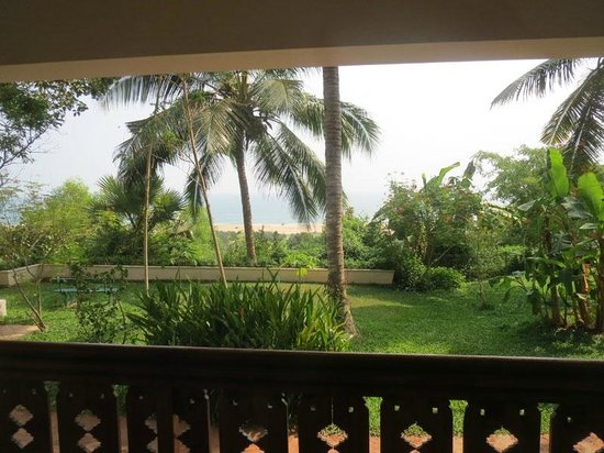 The Travancore Heritage Beach Resort: View from our balcony