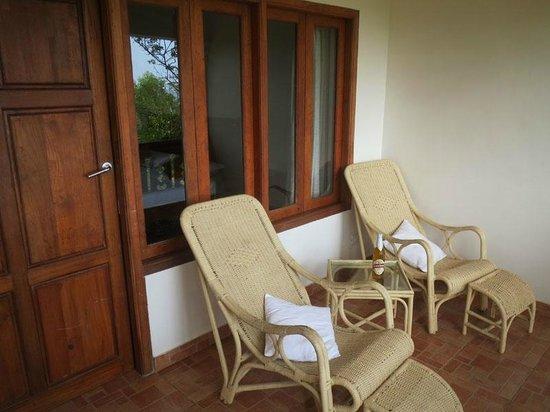 The Travancore Heritage Beach Resort: The balcony