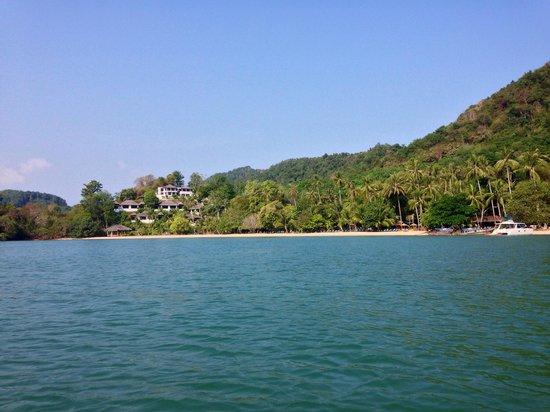 Paradise @ Koh Yao: View towards 'Paradise' from The sea
