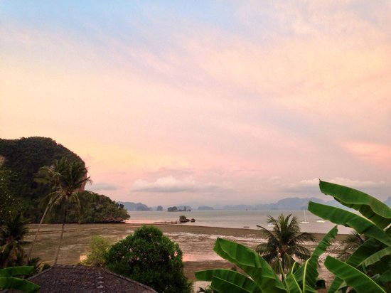 Paradise @ Koh Yao: Evening from our balcony