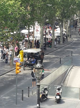 Eurostars Ramblas : from our room balcony