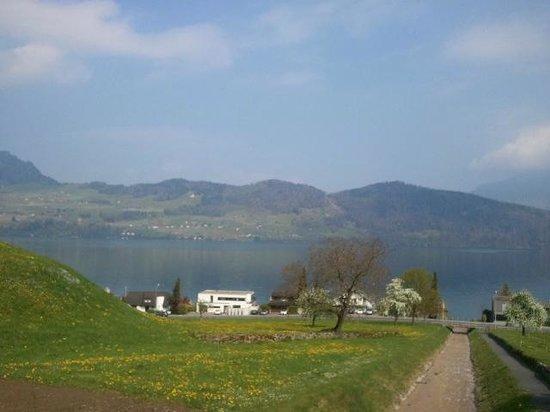 Boutique Hotel Schluessel : 호텔을 벗어나면 너무 멋진 호수 풍광이 있습니다.