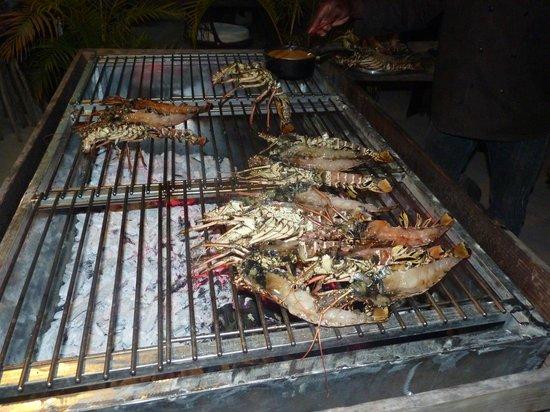 Las Palmas: Superbes langoustes au BBQ...