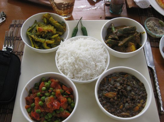 The Residence Mauritius: Special Vegetarian Food made by Chef Raj
