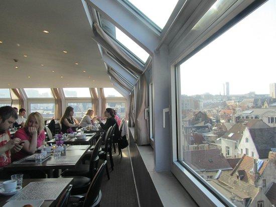 Floris Arlequin Grand'Place : Prachtig uitzicht bij het ontbijt
