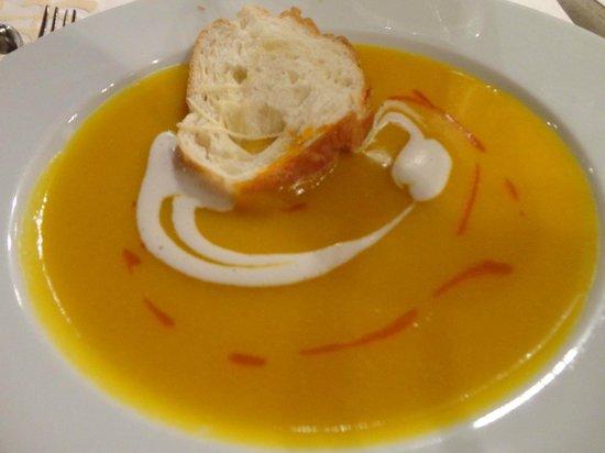 Aranwa Sacred Valley Hotel & Wellness : delicious pumpkin soup